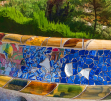 Gaudi's Park Guell - Impressions Of Barcelona Sticker