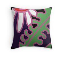 WHITE FLOWER abstract design Throw Pillow