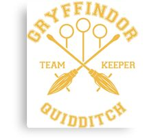 Gryffindor - Team Keeper Canvas Print