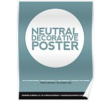 Neutral Decorative Poster (Teal) Poster