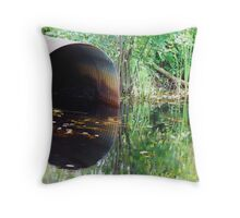 Marshy Reflections Throw Pillow