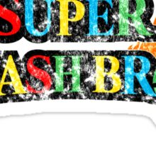 Super Smash Bros Logo W/ Mario World Colors Sticker