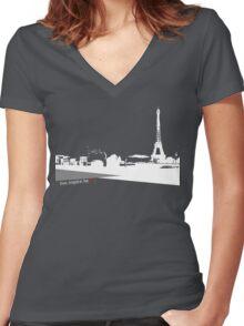 Love City Heart  Women's Fitted V-Neck T-Shirt