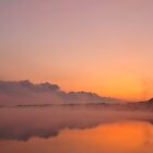 Stormfront coming - Misty sunrise over lake by NicoleBPhotos