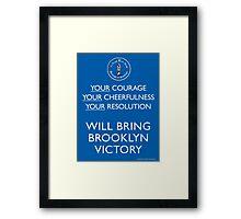 Bring Brooklyn Victory Poster Framed Print