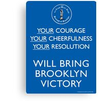 Bring Brooklyn Victory Poster Canvas Print