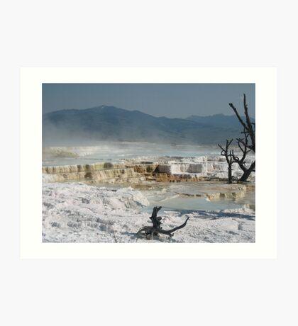 Mammouth Springs of Yellowstone Art Print