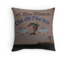 old pikey Throw Pillow