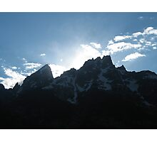 Sunset Behind the Mountains Photographic Print