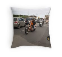 orange chopper Throw Pillow
