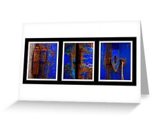 Moroccan Rust Triptych Greeting Card