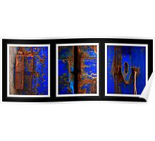 Moroccan Rust Triptych Poster