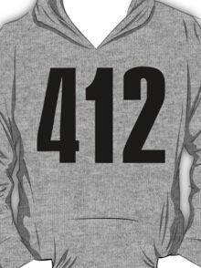 412 Pittsburg   Phone Area Code Shirts T-Shirt