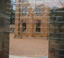 Sad Names on a Window by Gudrun Eckleben