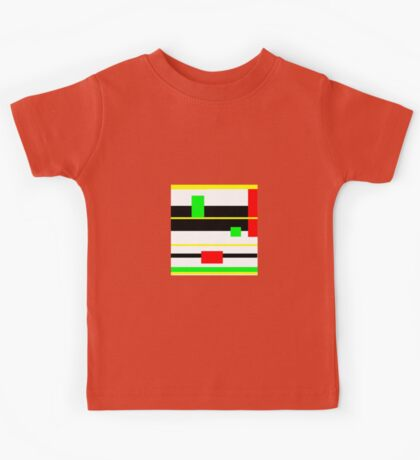 YELLOW, black, red, green, modern Kids Tee