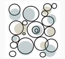 PASTEL abstract art, blue and yellow, circles, dots Baby Tee