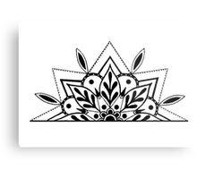 Semi Mandala Metal Print