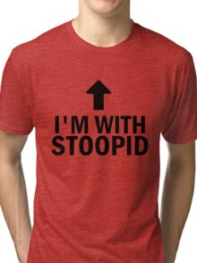 Glee: I'm With Stoopid Tri-blend T-Shirt