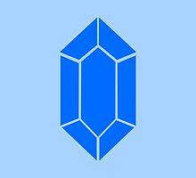 Blue Zelda Rupee by beerhamster