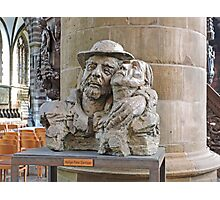 Bust of St Damiaan,  Church of Our Lady, Aarscot, Belgium Photographic Print
