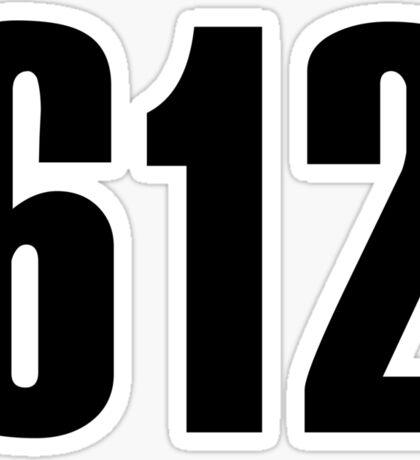 612 Minneapolis | Phone Area Code Shirts Sticker