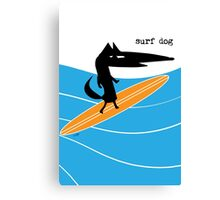 Surf Dog Standing Canvas Print