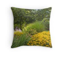 nature daisies Woodstock Throw Pillow