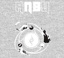 Black & White ANBU Theme Kids Clothes