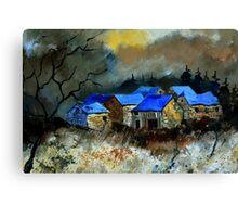 Remote houses Canvas Print