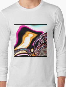 COLORFUL PSYCHEDELIC, modern ABSTRACT fractals Long Sleeve T-Shirt