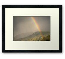 Raining Bow Framed Print