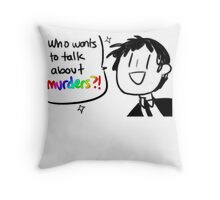Adachi - Who Wants To Talk About Murders? (Persona 4) Throw Pillow
