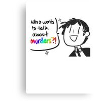 Adachi - Who Wants To Talk About Murders? (Persona 4) Metal Print