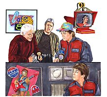 Hey McFly!?! Back to the Future II Photographic Print