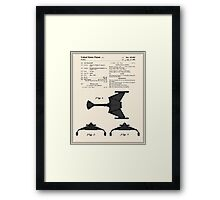 Klingon Fighter Toy Figure Patent- Colour Framed Print