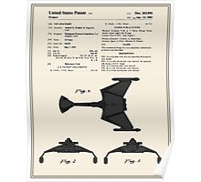 Klingon Fighter Toy Figure Patent- Colour Poster