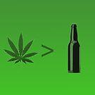 Weed Greater Than Beer by Studio Momo╰༼ ಠ益ಠ ༽
