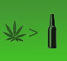 Weed Greater Than Beer by Studio Momo╰༼ ಠ益ಠ ༽
