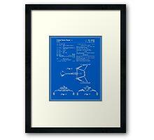 Klingon Fighter Toy Figure Patent - Blueprint Framed Print