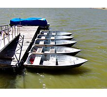 """Row"" Boats Photographic Print"
