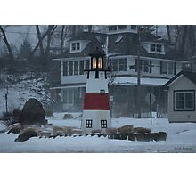 Snowy Afternoon at the Bluff Photographic Print