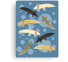 Axolotl Pattern Canvas Print