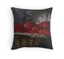 Weigh in the tomatoes Throw Pillow