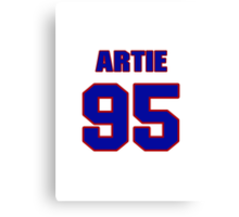 National football player Artie Smith jersey 95 Canvas Print