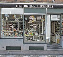 Tea house, Bruges, Belgium by Margaret  Hyde