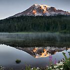 Sunrise on Reflection Lake by Bryan Peterson