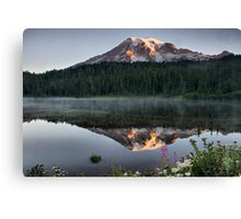 Sunrise on Reflection Lake Canvas Print
