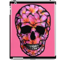 Skull with Pink Frangipani Flowers iPad Case/Skin