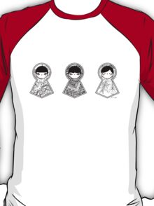 Three Matryoshka Babushka Dolls T-Shirt