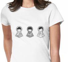 Three Matryoshka Babushka Dolls Womens Fitted T-Shirt